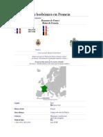 Restauración Borbónica en Francia
