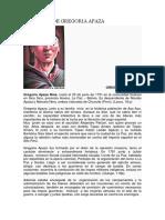 Biografía de Gregoria Apaza