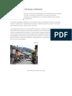 Apuntes Sobre La Geología Ambiental