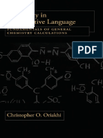 Chemistry in Quantitative Language