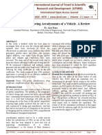 Methods of Improving Aerodynamics of a Vehicle- A Review