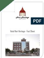 Hotel Hari Heritage Fact Sheet