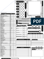 Cthulhutech Character Sheet Revised