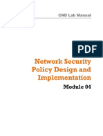 CND Labs Module 04 Network Security Policy Design and Implementation