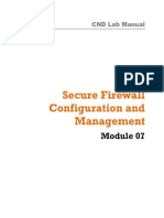 CND Labs Module 07 Secure Firewall Configuration and Management