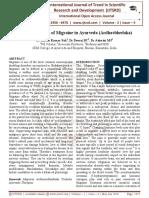 Conceptual Study of Migraine in Ayurveda (Ardhavbhedaka)