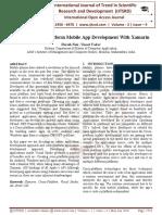"Study on Cross '""Platform Mobile App Development With Xamarin"