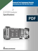 Rohde Schwarz EVS300 Datasheet