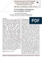 An Empirical View of Influence Marketing from Influencers and Influence Marketers