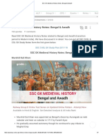 SSC GK Medieval History Notes_ Bengal & Awadh.pdf