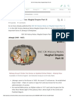 SSC GK History Notes_ Mughal Empire Part III