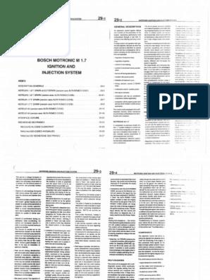 29 Motronic M1 7 Ignition & Injection System pdf