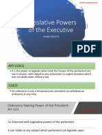 Ordiance Power of the Executive