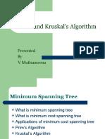 Prim's and Kruskal's Algorithm