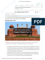 SSC GK History Notes_ Mughal Empire Part IV