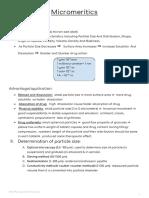 Micromeritics (Science of Particles)