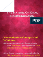 The Nature of Oral Communication