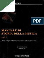 Elvidio Surian - Manuale Di Storia Della Musica Vol. I - Dalla Musica Strumentale Del Cinquecento Al Periodo Classico