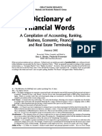 Dictionary of financial words