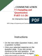Multiple choice question digital communication