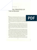 General Principles of the Interview