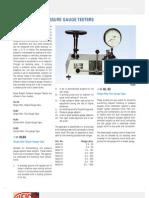 Dead Weight Pressure Gauge Testers