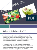 Adulteration in Foods 1