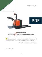 Manual Servicio Zorra Cpower Noblelift WP-LPT20