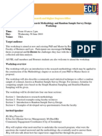 Methodology Workshop