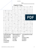 Argument Essay Word Search