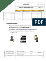 Formulario de Solicitud de Cuenta Argos Roberto Sepulveda
