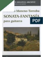 TORROBA Federico Moreno Sonata Fantasia Manuscript Rev Gilardino Guitar Chitarra