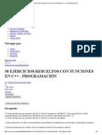 50 EJERCICIOS RESUELTOS CON FUNCIONES EN C++ - PROGRAMACIÓN