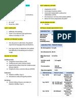 Pulmonary Edema Secondary to HF