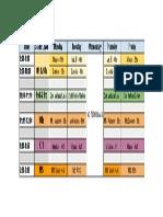my class schedule - sheet1
