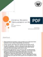 Journal Reading Hemoroid