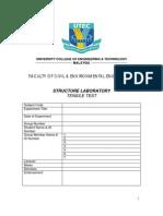 Tensile Test Lab Sheet