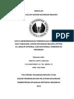 Upaya Mensinergikan Pengawasan Lembaga Audit Internal dan Eksternal untuk PPTKN yang efektif, efisien, transparan, dan akuntabel