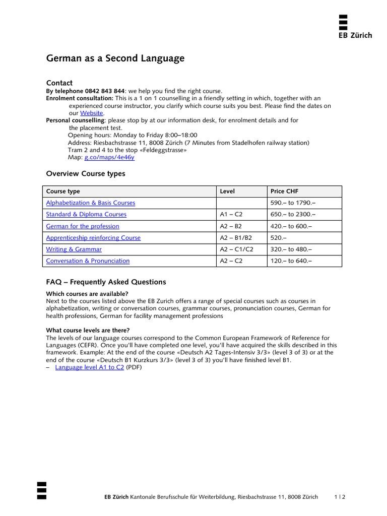 german-as-a-second-language pdf | Behavior Modification