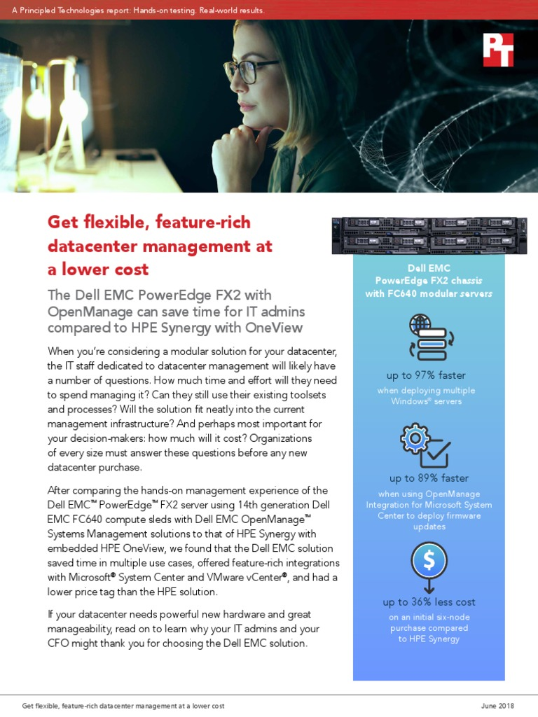 Get flexible, feature-rich datacenter management at a lower cost