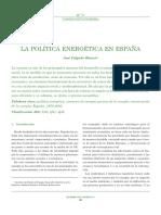 Politica Energetica en España
