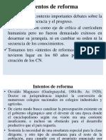 Intentos de Reforma