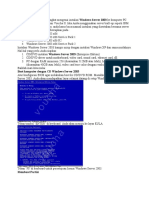 Artikel Ini Adalah Tutorial Singkat Mengenai Instalasi Windows Server 2003 Ke Komputer PC Untuk Digunakan Dalam Sistem Voucha II