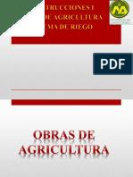 OBRAS DE AGRICULTURA