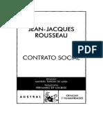 Rousseau, Contrato Social