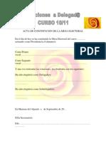 ACTA DE CONSTITUCIÓN MESA ELECTORAL