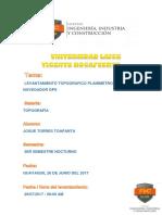 Informe Tecnico Topogrfico Levantamiento Con GPS (1)