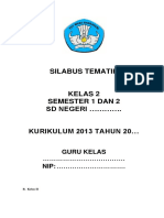 Silabus Tematik Terpadu Kelas II