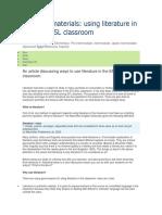 Teaching Materials Literature
