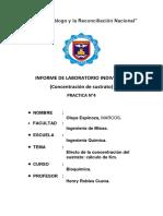 Informe de Trabajo Marcos Olaya Espinoza